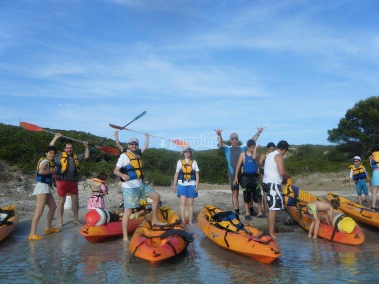 Divertimento di gruppo, in kayak