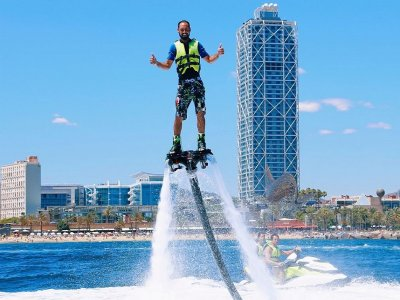 Flyboarding activity in Barcelona 15 minutes