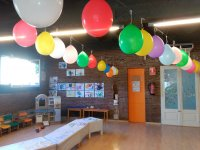 Ludoteca decorated with balloons