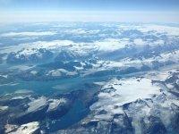 Vistas aéreas desde la aeronave