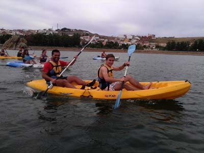1h kayaking route in Alange