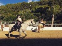 Aprendiendo equitación en Marbella