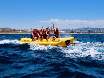 Actividad de banana boat en Barcelona 15 min