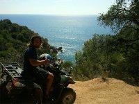 Vistas del mar Mediterráneo desde quad