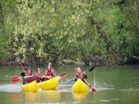 Denscensos en canoa