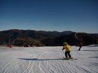 滑雪我们一个美好的一天滑雪的滑雪比赛