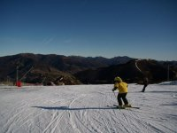 un dia precioso para esquiar