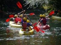 Diversion en kayaks