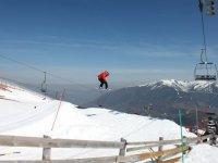 demostracion de snowboard