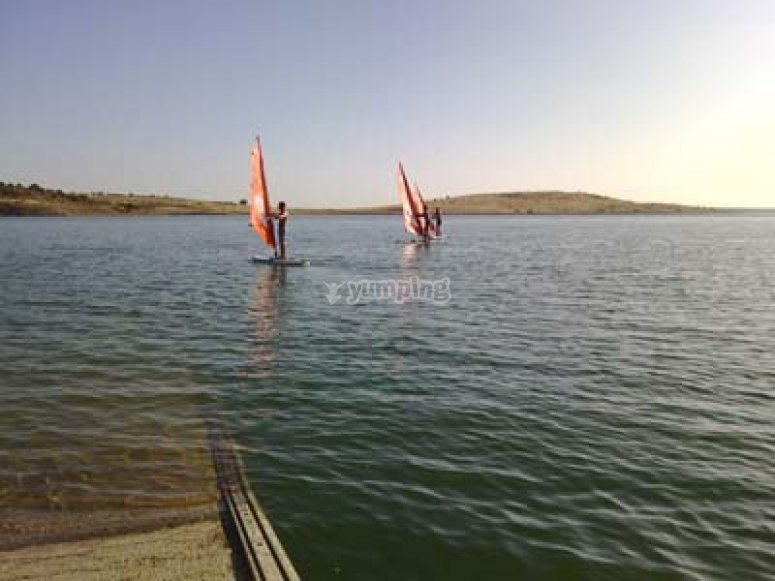 Test del windsurf in Alange
