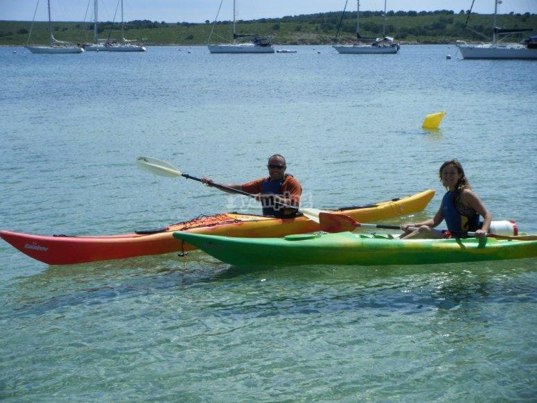 Excursión en kayak en Fornells