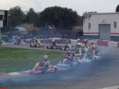 Driving a kart in Monterrey, Ourense - 2 races