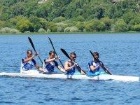 皮划艇划桨飞溅competcion