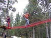 徒步旅行探险公园滑雪