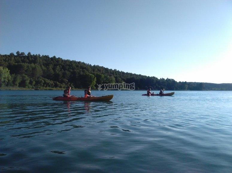 En kayak en Ruidera