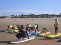 Antes de empezar ejercicios en la arena