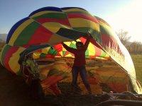 Saliendo del globo aeroestático