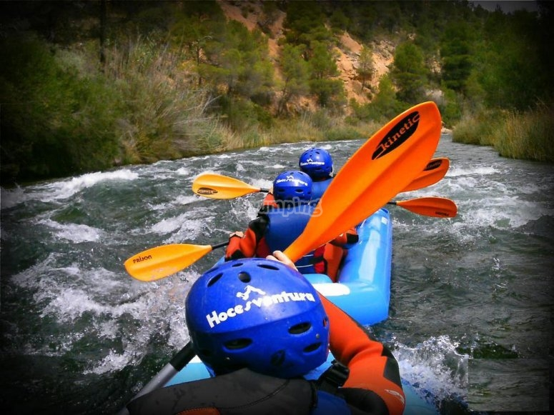 Ruta en canoa raft