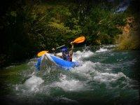 Descenso en canoa raft
