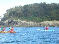 Kayaks near the shore