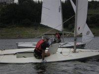 Disfrutando de un día navegando