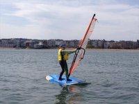 Enjoying a day of windsurfing