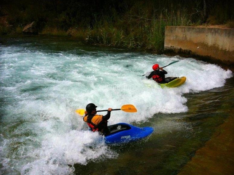 Recorrido en los kayak