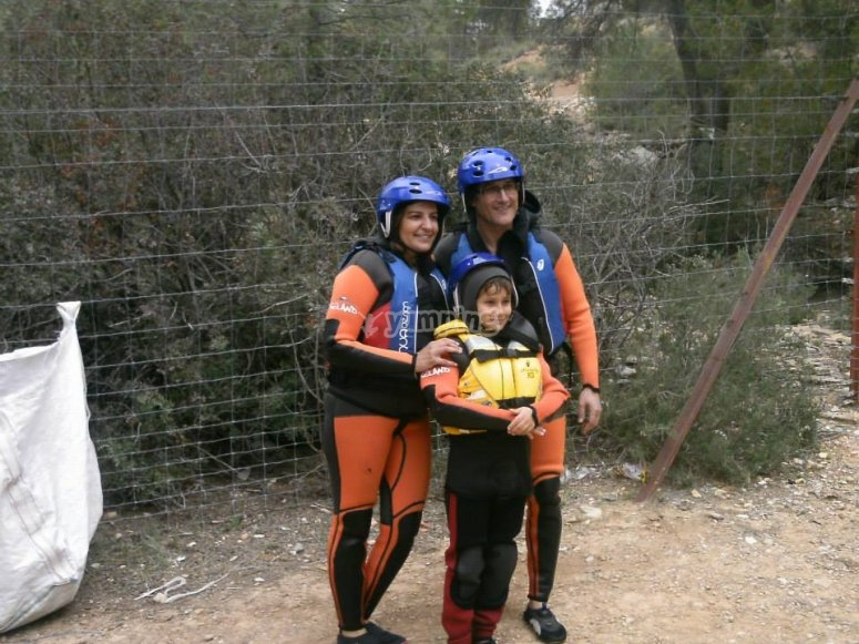 Rafting on the Cabriel River