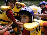 Descenso en rafting río Cabriel. Niños