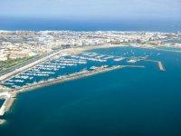 Vista del puerto de Gran Canaria