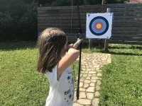 Archery at the Los Arranes lodge