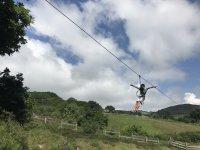 Salto con la zip-line a Villamediana de Lomas