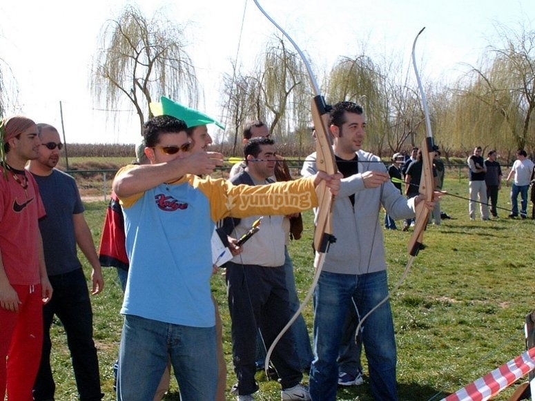 学习用弓射击