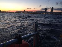 2h sailing tour at sunset in Barcelona