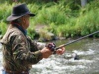 pescando primer plano