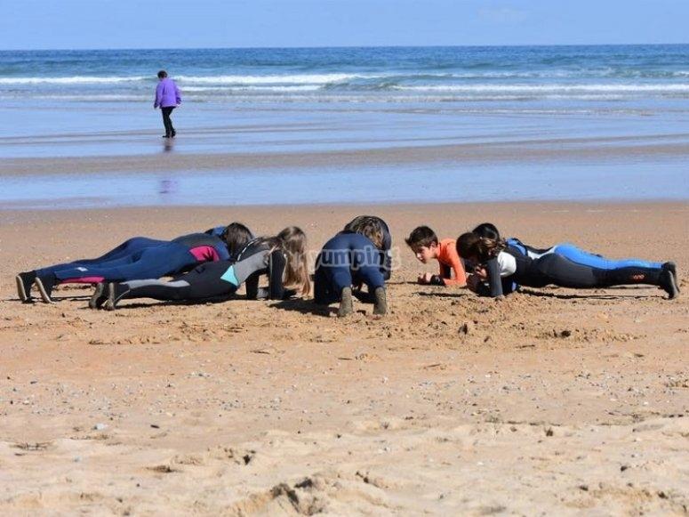 Ejercicios en la playa