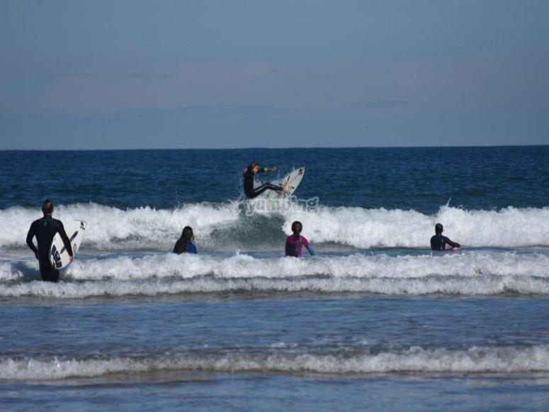 Surfeando una buena ola