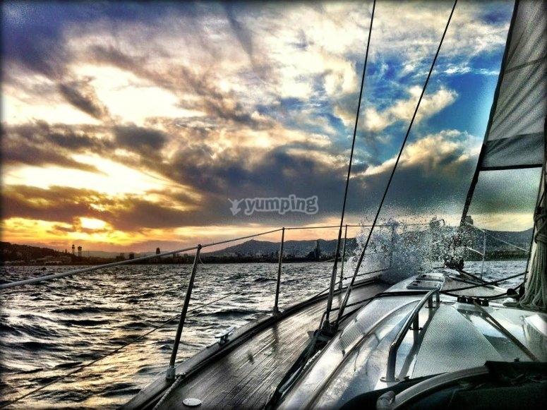 Tempestosa giornata a bordo