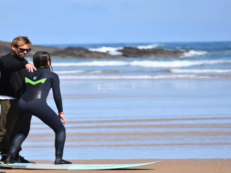 The Cantabria Sea and private surfing class