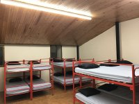 The rooms with bunk beds