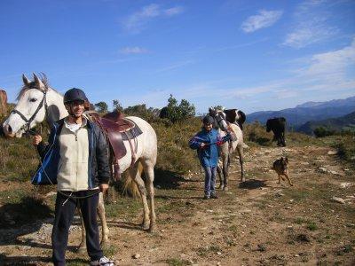 Partenza a cavallo, nei pressi di Artziniega, 3 h.