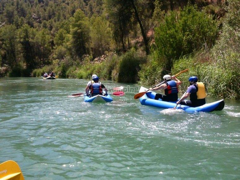Descenso en Kayak para adultos