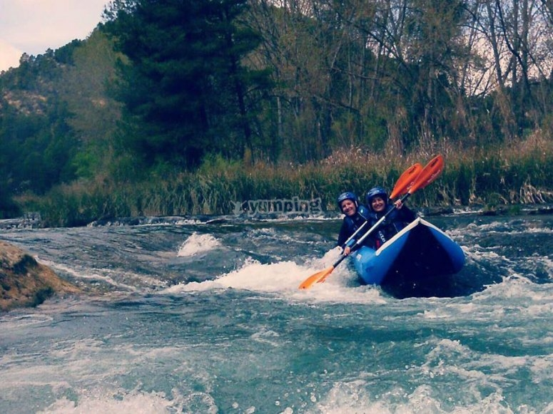kayak en pareja.
