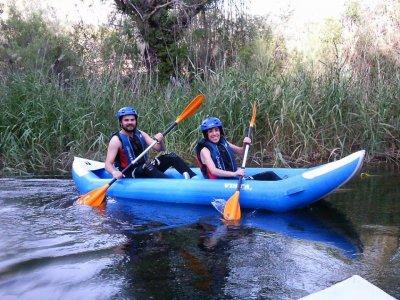 Kayak en Hoces del Cabriel, medio día, y bocadillo