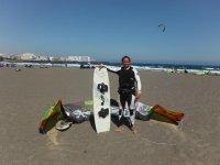 教训从海滩滑浪风帆