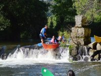 Paddling in the rapids