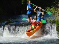 Rafting down the rapids