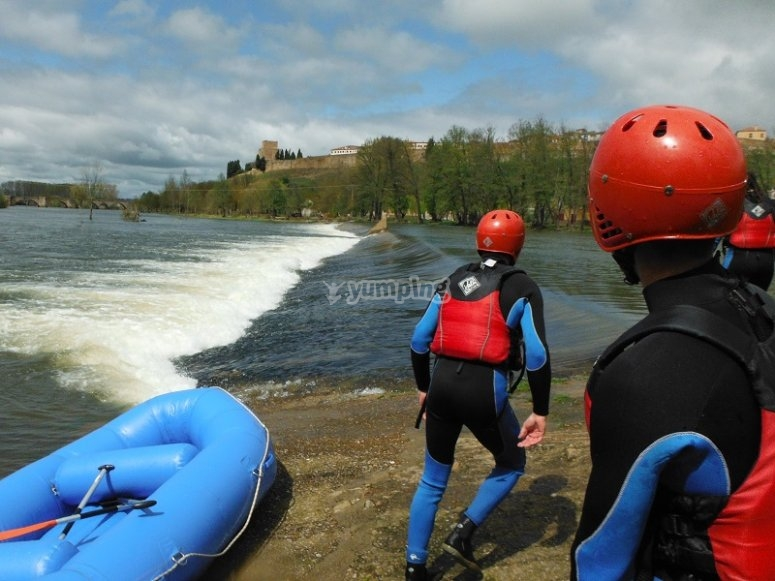 Pronti per il rafting in Tormes