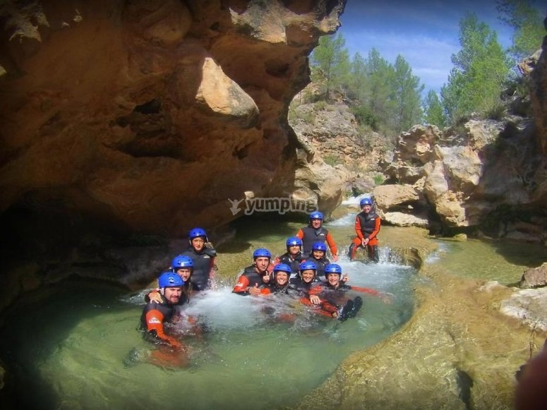 In the canyon's pool