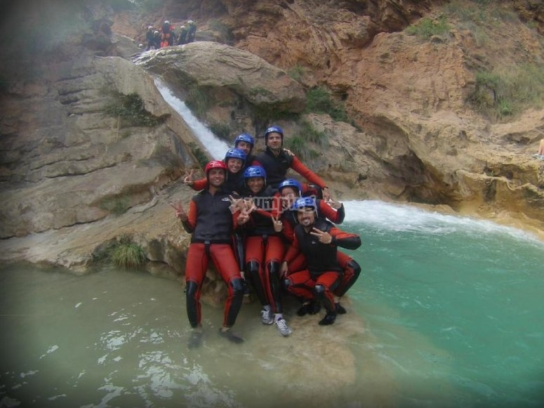 Group in the canyon
